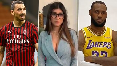 Mia Khalifa Blasts Zlatan Ibrahimovic Over His 'Stick to Sports' Remark for LeBron James, Asks AC Milan Striker to Stop Selling us TVs (View Post)